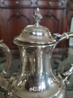 Reed & Barton Sterling Silver 5 Piece Tea Set Le Modèle Pilgrim 2188g