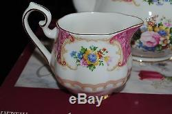 Royal Albert Bone China Lady Carlyle 3 Piece Tea Set Tea Pot Creamer Sucre Boîte