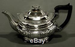 Service À Thé Anglais En Anglais George III Style Ellis, 1932 70 Oz