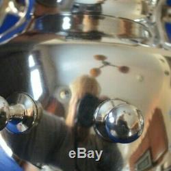 Service À Thé Birmingham Silver Silver Sur Copper Avec Théière Inclinable 6 Pièces