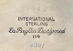 Service À Thé / Café 3 Pièces Vintage Au Milieu Du Siècle Moderne La Paglia Design En Argent Sterling