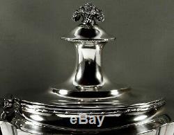 Service À Thé En Argent Sterling À Motif Tiffany C1895, Bras De Manteau De Dragon