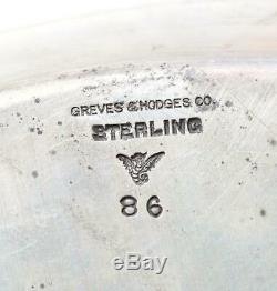 Service À Thé En Argent Sterling Greves & Hodges, Argent Victorien Avec Goldwash, 1300g +