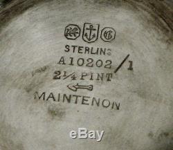 Service À Thé Gorham Sterling 1923 Maintenon 65 Onces