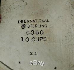 Service À Thé International Sterling, Gloire De Printemps C1960 No Mono