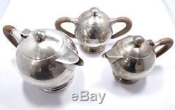 Service À Thé Teeservice 925 Argent Silber Kaffeekanne Zuckerdose Café Teekanne