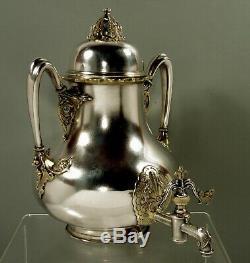 Service À Thé Tiffany Sterling & Gold Urne À Thé C1870 Museum