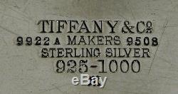 Service À Thé Tiffany Sterling Persian 86 Oz Était $ 6400 No Réserve