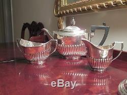 Service À Thé Vintage En Argent Sterling De 3 Pièces Absolument Élégant
