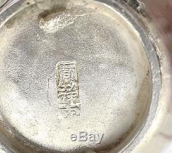 Set 8 Tasses Et Soucoupes De Thé En Argent Chinois Du Début Du Xxe Siècle