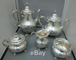 Set Gorham Strasbourg Sterling Silver Tea Service