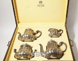 Silver Set Café Thé, 4 Pièces Dans Une Boîte. Russie, K. Fabergé, 1899-1908