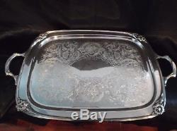 Silverplate 1847 Rogers Daffodil Café Thé 6 Pc Set Lg Plateau Complet