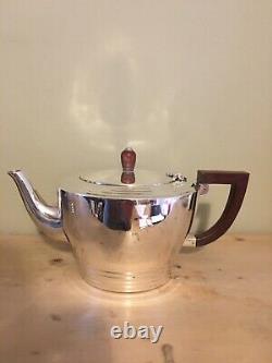 Solid Silver Art Déco Style 4 Piece Tea Set 1947