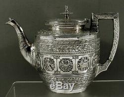 Sterling Écossais Tea Set 1890 Thomas Smith Zodiac