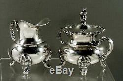 Sterling German Tea Set C1895 Gebruder Deyhle No Monogram