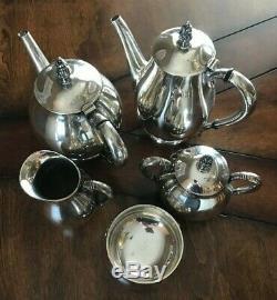 Sterling Internationale Royal Danois Thé / Café 5 Morceaux Pas Monogram