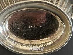 Sterling Silver Antique Thé / Café Set Bernard Hertz Danemark 1800 Fin De 463g
