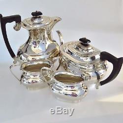Sterling Silver Four Piece Tea Set Viners Ltd Sheffield 1960