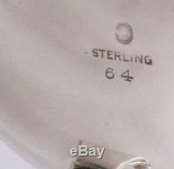 Sterling Silver Thé / Café Set Avec Plateau Blossom Georg Jensen Style Danois