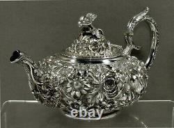 Stieff Sterling Tea Set 1921 Décorés Main