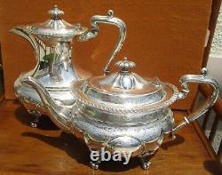 Style Géorgien Christopher Johnson Sheffield Anglais Silverplate Service À Thé