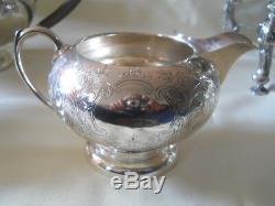 Superbe Service À Café Birks Sterling Tea Avec Bouilloire À Eau Chaude