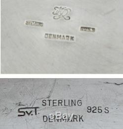 Svend Toxvaerd Ens. Café Et Thé En Argent Sterling Avec Cassette Et Plateau À Eau