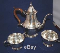 Teaset 1/1 / 5pt Lenox Argent Sterling 8 1/4 Pot Bois Poignée2 1/2 T X 3 7 / 16w