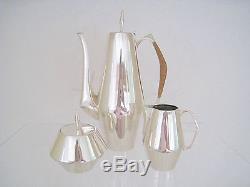 The Diamond Gio Ponti Design Sterling Ensemble De Thé En Argent Sterling 1960 Reed & Barton