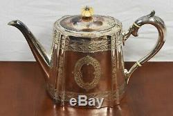 Thé Et Café Set 1890. Argent Plaqué De Style Géorgien