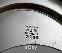 Thé Sterling Gorham Plymouth Fixé Avec Le Plateau Correspondant (6 Ensemble Monobloc) 1916-1919