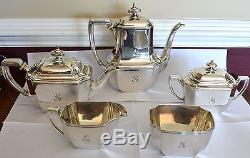 Tiffany & Co. Ensemble De 5 Pièces À Thé En Argent Sterling Hampton Avec Rebus # 18389