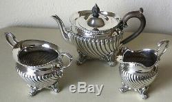 Tiffany & Co & Savory-sterling Silver-matching -thé-théière-sucre-crémier