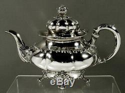 Tiffany Sterling À Thé C1895 Art Nouveau Motif Rare