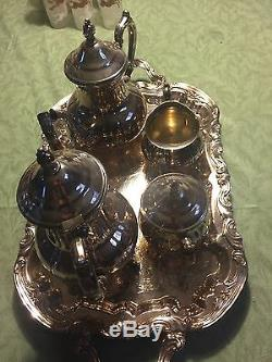 Towle Silverplate Tea Coffee Creamer Service À Sucre Set 5 Pièces Grande Duchesse