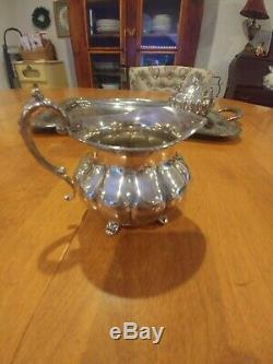 Vintage 3 Piece Communauté Silverplated Old English Melon Tea Set Sert Du Café