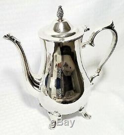 Vintage 4 Pc Plate International Argen Argent Tea Crème Pot Café Sucre Set