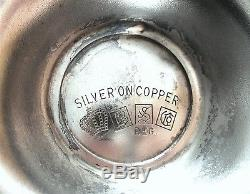 Vintage Birmingham Silver Café Thé Pot Crème Sugar Tray Nouveau Serving Set