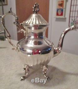 Vintage Birmingham Silver Sur Cuivre Serveur De Thé Et Café Set 6 Pcs