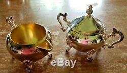 Vintage F. B. Rogers Argent Co. 1883 Silverplate 5 Pièces À Café / Thé Set