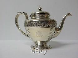 Vintage Gorham Athenic Sterling Silver 4-pièces De Café / Thé, 1810 Grammes