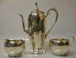 Vintage Gorham Sterling Silver 3 Piece Tea Set B Monogrammed