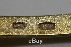 Vintage Russe. 875 Cuillères À Thé En Argent Lavé À L'or Fin 875