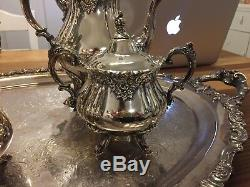 Vintage Silver Tea Set Baroque Par Wallace 294f