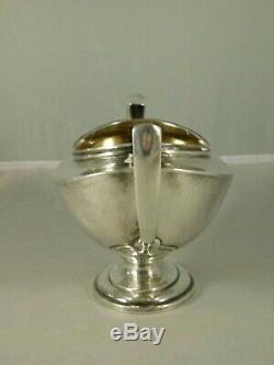 Vintage Towle Lafayette En Argent Sterling À Thé Pot Creamer & Sugar 5580