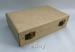 Vtg 1969 A Marston & Co Miniature Argent Solid 5 Piece Dolls Tea House Set & Box