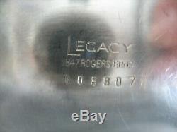 Vtg 4 Pc Rogers Brothers Héritage Silverplate Art Deco Service À Thé C1929