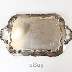 Vtg Service À Thé Lady Margaret Coffee Plaque Silver Silver De Rogers