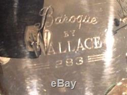 Wallace Argent Baroque 10 Pc Service À Thé Et Café Avec Tray, Sauce, S & P